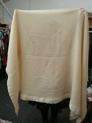 Vintage Lan Air Cel Pure New Wool  Blanket Great Britain XL 100