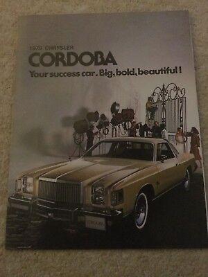 CHRYSLER CORDOBA CAR BROCHURE 1979 mint condition