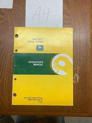 John Deere Gator Utility Vehicle Operators Manual Omm119552 Nos