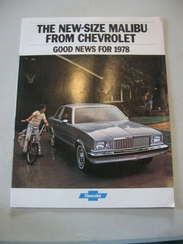 1978 Chevrolet Malibu Car Dealer Sales Brochure Catalog