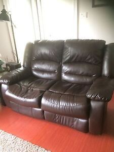 REDUCED Leather Love Seat