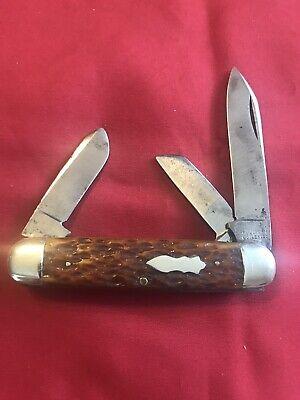 Vintage 3 Blade bone Cattle Knife