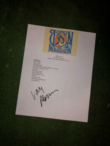Van Morrison Signed setlist reproduction
