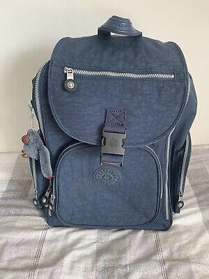kipling backpack with wheels navy blue