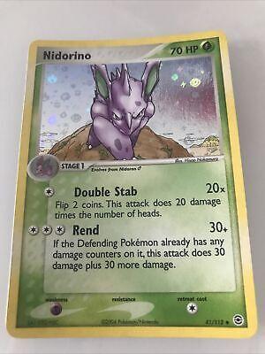 Nidorino 41/112 Pokemon Holo Rare Card ENG. -EX FireRed & LeafGreen