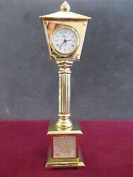 Sharp Quartz Miniature Brass Grandfather Clock