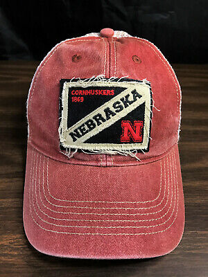 Vtg Campus Bum Life Distressed Nebraska Cornhuskers Snapback - Bum Hats