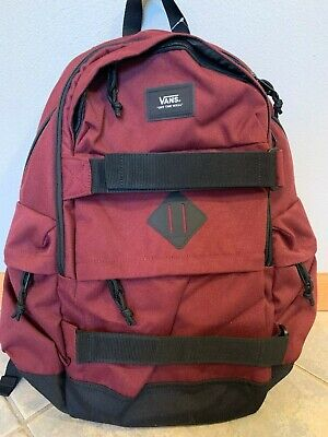 VANS Unisex Planned Skateboard Pack Maroon Backpack School Bag 0074-998