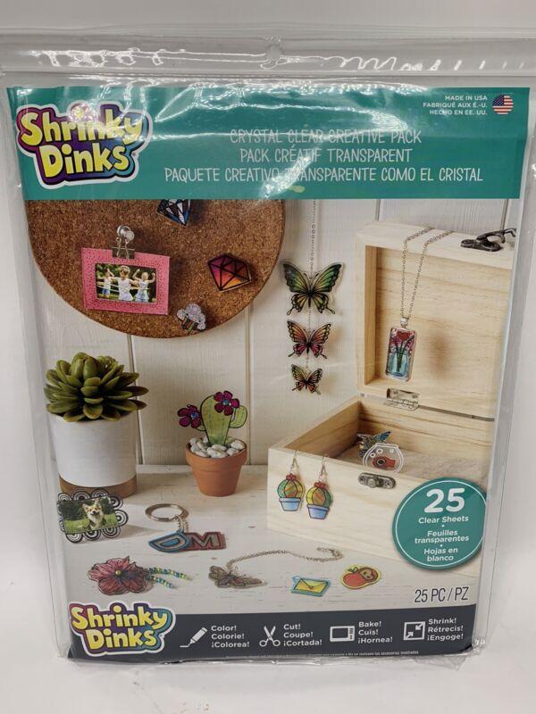 Shrinky Dinks Crystal Clear Creative Pack, 25pk