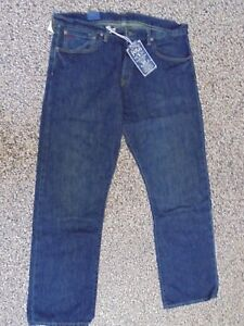 Men's NWT RALPH LAUREN POLO Classic 867 Dark Wash Blue Jeans 34 x 30