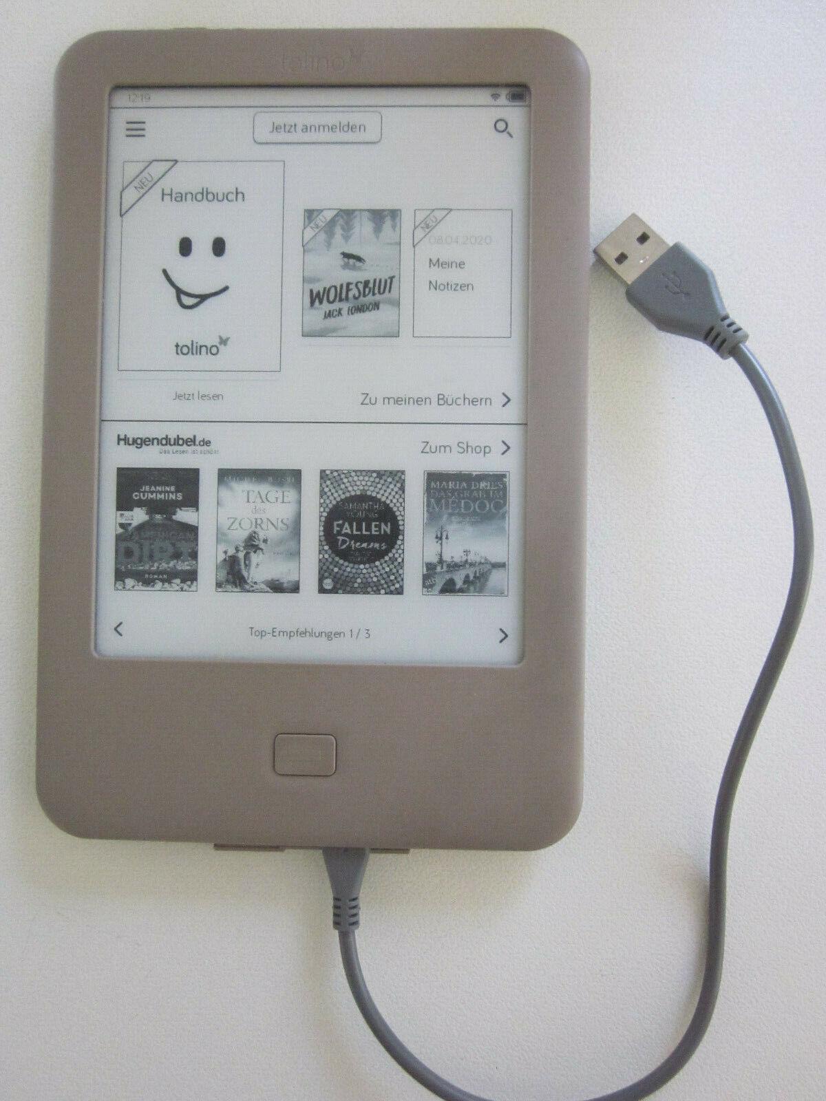 Tolino Page - eBook Reader 4 GB grau/braun