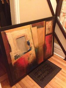 Modern style textured art in black floater frame.  Peterborough Peterborough Area image 1