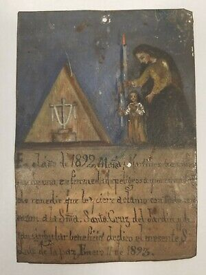 Antique Hand Painted Religious Art