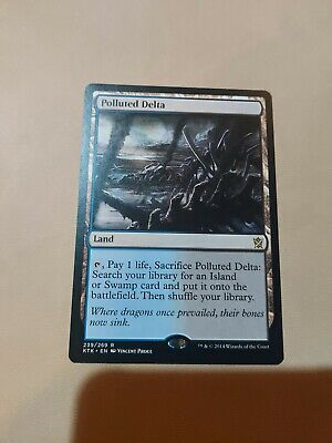 1 x Polluted Delta - Khans of Tarkir - NM Condition - MTG - Fetch Land