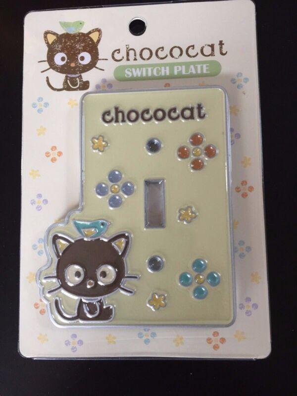 New Sanrio Stencil ChocoCat Switch Plate Metal Yellow Q