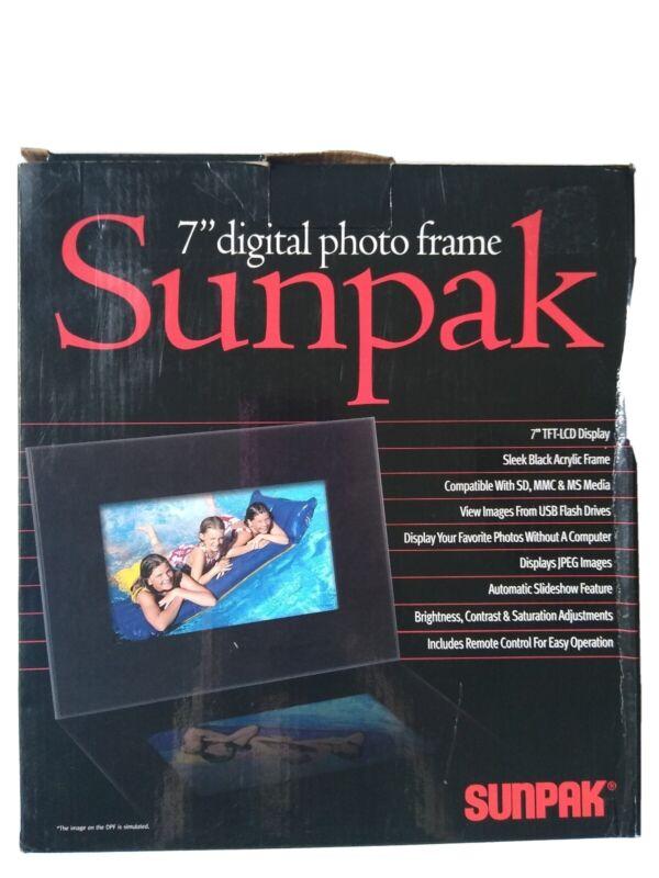 "Sunpak 7"" Digital Photo Frame- LCD display"