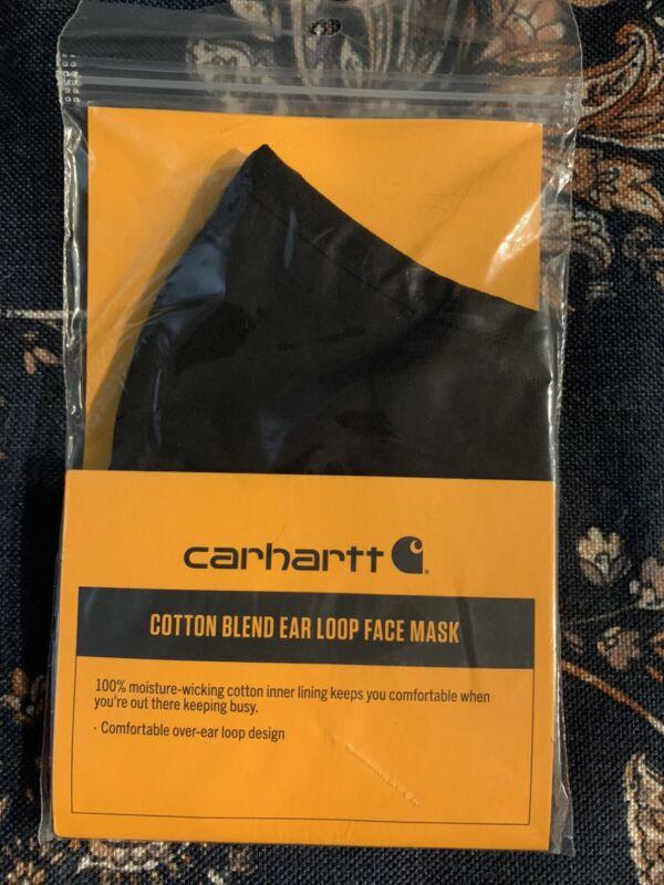 BRAND NEW! Black Carhartt Cotton Blend Ear Loop Face Mask Unisex