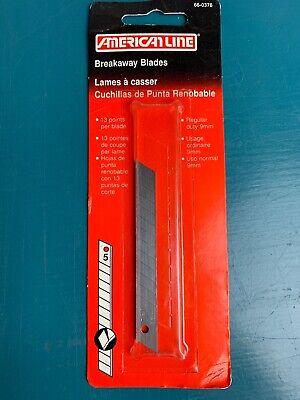 American Line Breakaway Knife Blade 9 mm, 5/Card 66-0378