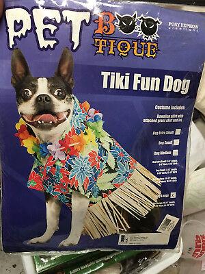 Pony Hund Kostüm (Pet Bootique Pony Express Pet Tiki Fun Dog Large Costume Hawaiian Luau)