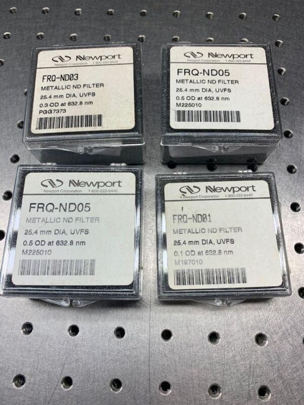 Newport FRQ ND Metallic Neutral Density Filters (Lot of 4)