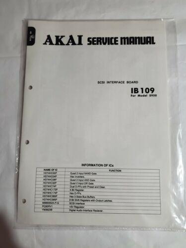 AKAI Service Manual SCSI Interface Board IB 109 for Model S950