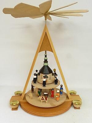 Pyramide Christi Geburt 2 Etagen  Original Erzgebirge Weihnachtsdekoration
