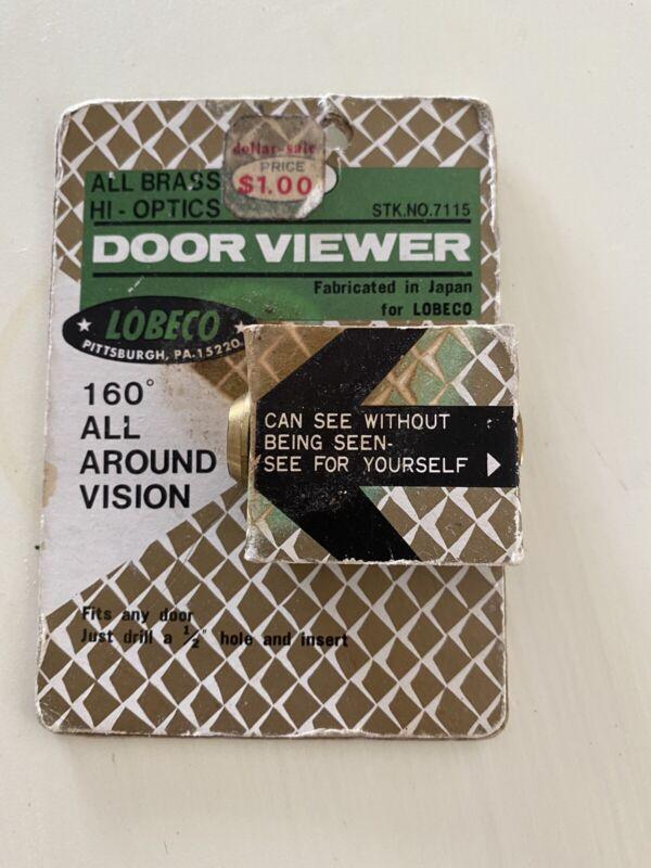 160° Solid Brass Glass Lens Vintage PEEP HOLE DOOR VIEWER JAPAN Mid Century
