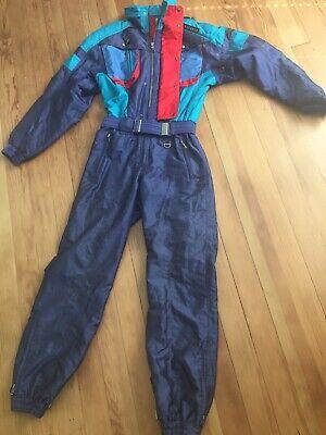 a5469011e299 Vintage DESCENTE Mens Ski Snow Suit Teal Blue Sz M 80's 90's