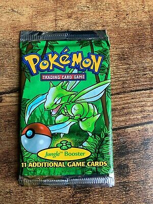 pokemon booster jungle pack scyther sealed 1999