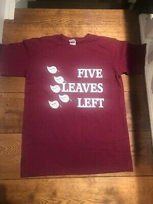 Nick Drake Five Leaves Left 🍁 Amazing Cult Album Maroon T Shirt Top NEW (Drake Top Five Top Five Top Five)
