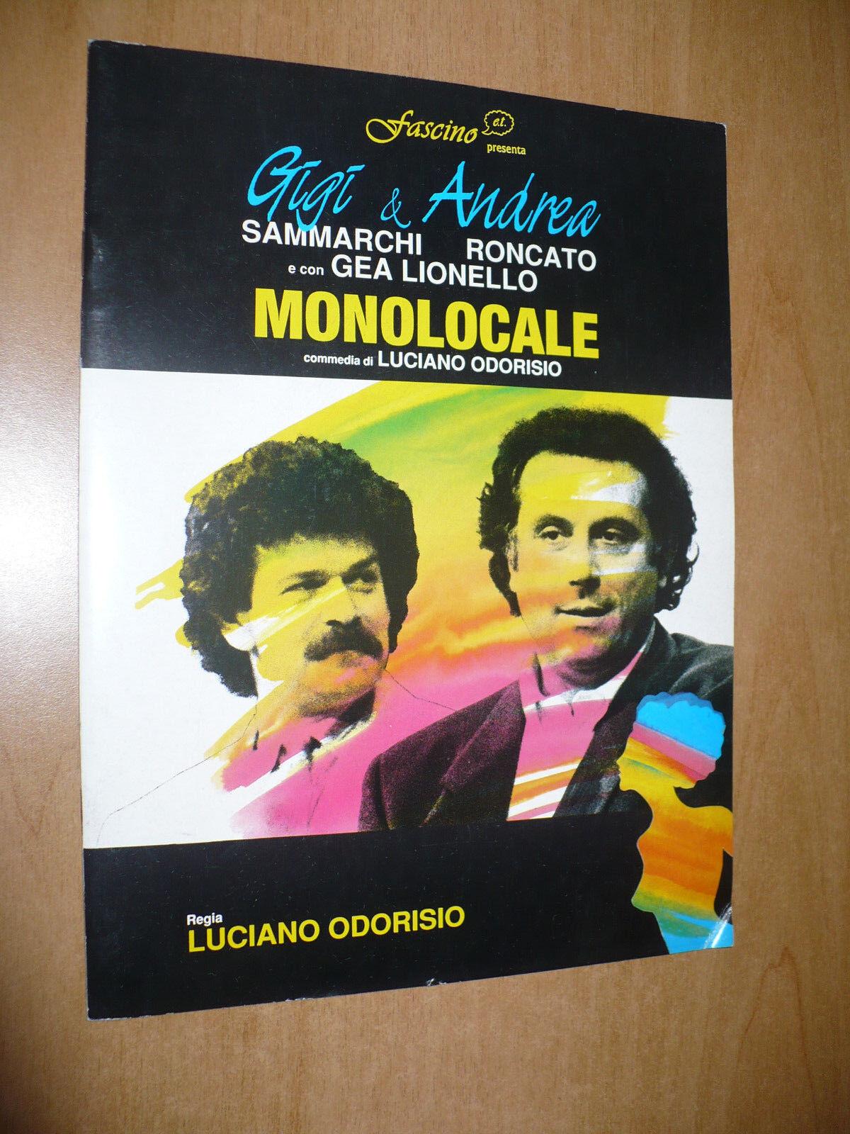 TEATRO BROCHURE MONOLOCALE GIGI SAMMARCHI ANDREA RONCATO GEA LIONELLO L.ODORISIO