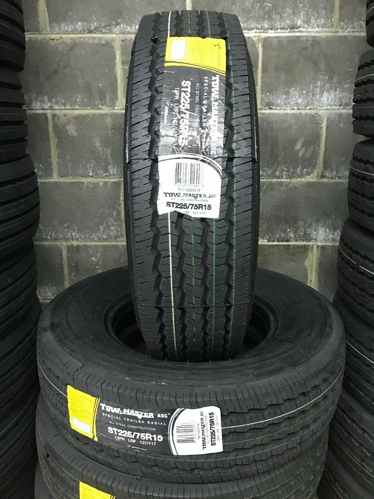 1 NEW ST225/75R15 LRF 12 PLY Tow Master Radial All Steel Trailer Tire 2257515
