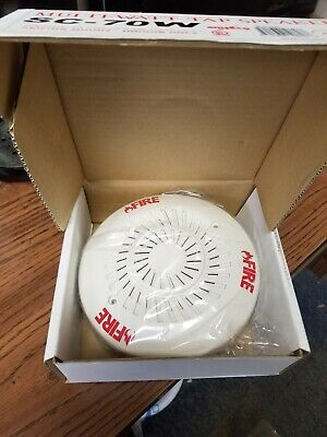 Amseco Sc-70w White Fire Alarm Speaker Round Grill 70 V Ul Listed