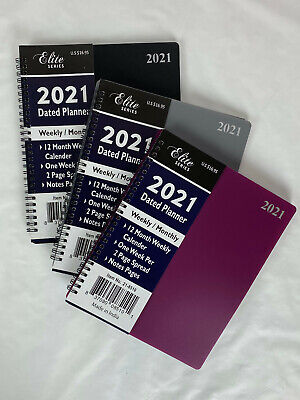 2021 Spiral Weekly Monthly Planner Appointment Agenda Organizer 8x10 Or 5x8 Size