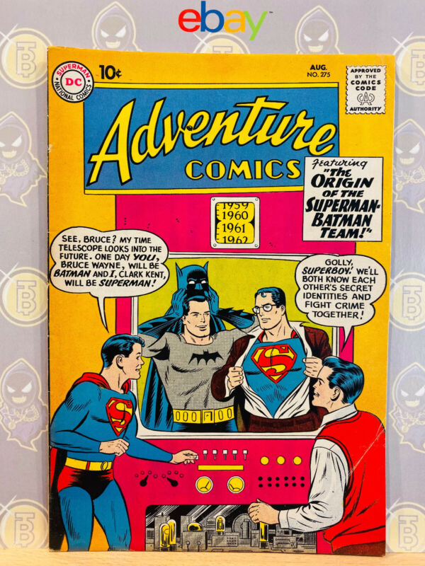 Adventure Comics #275 (6.5) Fine+ Batman & Superman 1st Team-Up 1960 Silver Age