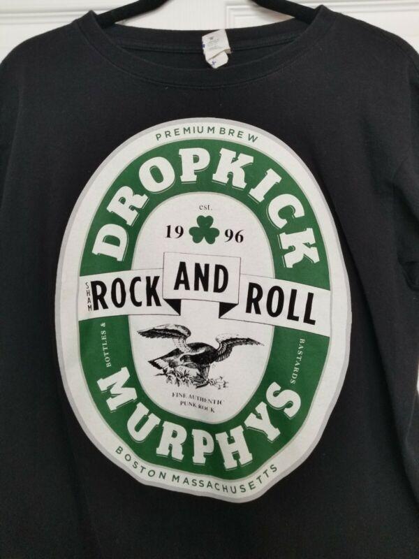 Drop Kick Murphys band t-shirt black clover medium Irish Celtic Punk ska
