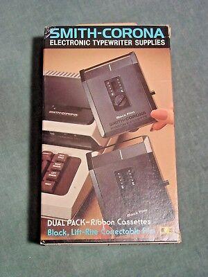 Smith Corona Typewriter Ribbon Cartridge Dual Pack 251 Black Correctable 2 Pak