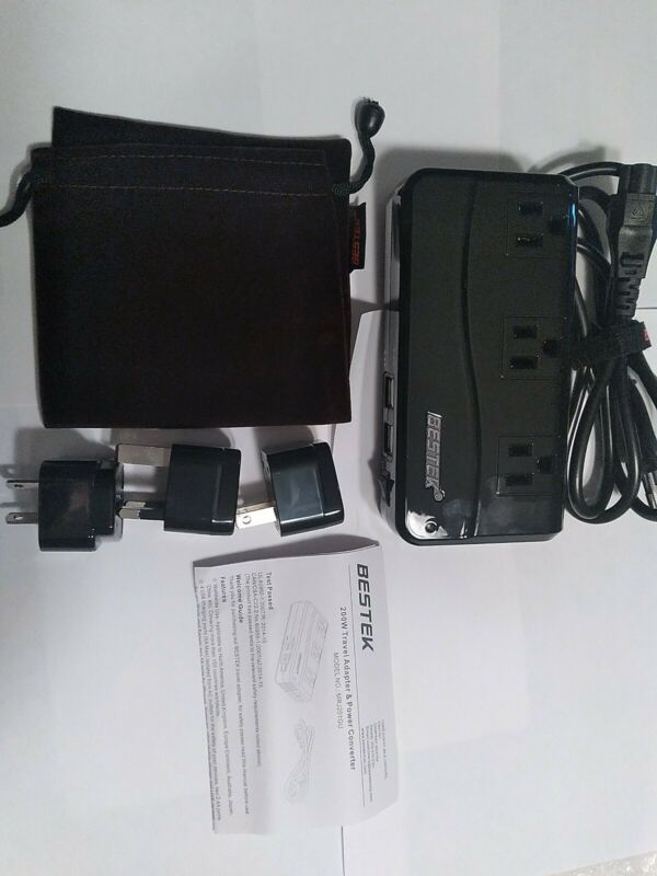 200w travel adapter and power converter NWOT  Surge Protector