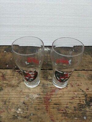 2 Coke Christmas Santa Claus Train Set Coca Cola Drinking Glass 1997 NICE