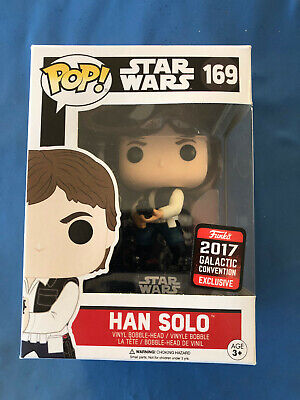 HANS SOLO FUNKO POP Star Wars #169 GALACTIC 2017 Convention NEW FREE SHIP !!!