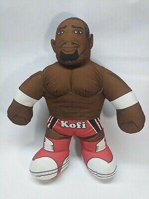 WWE Brawlin' Buddies Plush Kofi Kingston Action Figure Doll Mattel-Rare!