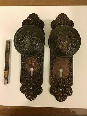 Face Shaped Door Handles Antique Pair of Cast Iron Door Handles
