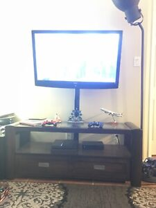 Tv with entertainment stand