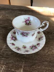 Royal Albert 'Sweet Violets' tea cup and saucer