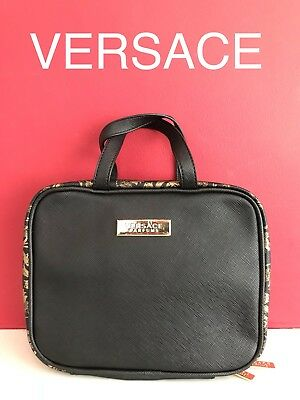 VERSACE Vanity Bag handbag, Wash Bag evening bag  Black Women's BRAND NEW!!
