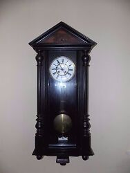 Large Early Fabrikmarke Shablonenuhr Regulator Wall Clock Federal Style Serviced
