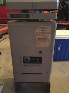 Natural gas heater, pump and filter for hot tub