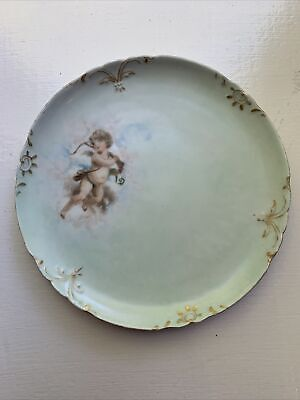 Jean Pouyat Limoges Exquisite Hand Painted Angel Antique French Plate