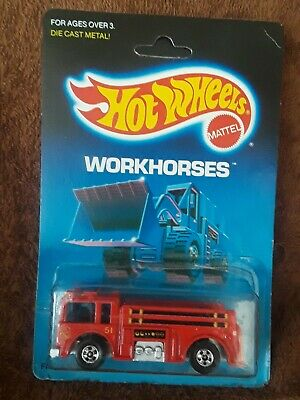1:64 HOT WHEELS 1988 WORKHORSES  RED FIRE - EATER