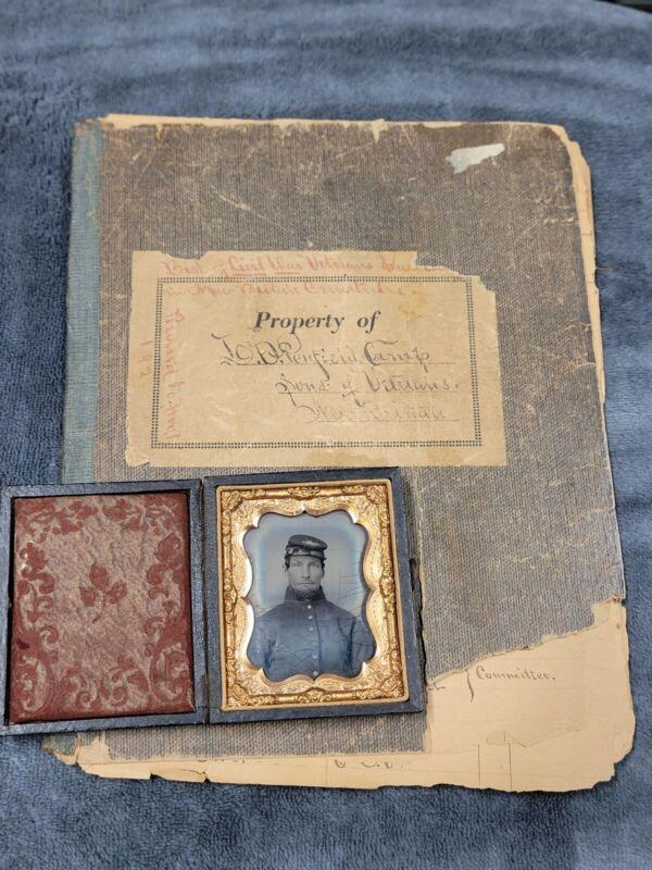 Civil War Solider Tintype Attributed W Historic New Britain Conneticut Civil War
